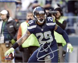"""Earl Thomas Seattle Seahawks Autographed 8"""" x 10"""" Horizontal with Ball Photograph"""