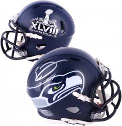 Riddell Earl Thomas Seattle Seahawks Super Bowl XLVIII Champions Autographed Mini Helmet