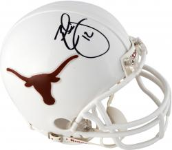 Earl Thomas Texas Longhorns Autographed Riddell Mini Helmet - Mounted Memories