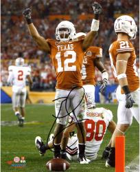 "Earl Thomas Texas Longhorns Autographed 8"" x 10"" Hands Up Photograph"
