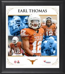 "Earl Thomas Texas Longhorns Framed 15"" x 17"" Core Composite Photograph"