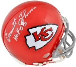 "Emmitt Thomas Kansas City Chiefs Autographed Riddell Mini Helmet with ""HOF 08"" Inscription"