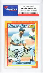 Frank Thomas Chicago White Sox Autographed 1990 Topps #414 Rookie Card  - Mounted Memories