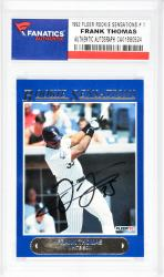Frank Thomas Chicago White Sox Autographed 1992 Fleer Rookie Sensations #1 Card  - Mounted Memories