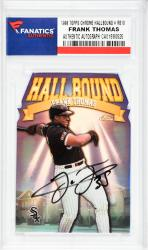 Frank Thomas Chicago White Sox Autographed 1998 Topps Chrome Hall Bound #RB10 Card  - Mounted Memories  - Mounted Memories