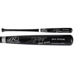 Frank Thomas Chicago White Sox Autographed Rawlings Big Stick Black Bat with HOF 2014 Inscription - Mounted Memories