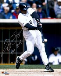 "Frank Thomas Chicago White Sox Autographed 16"" x 20"" Hit Ball Photograph with HOF 2014 Inscription"