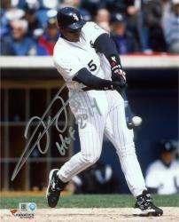 "Frank Thomas Chicago White Sox Autographed 8"" x 10"" Hit Ball Photograph with HOF 2014 Inscription"