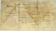Thomas Jefferson James Madison Signed Autographed 1806 Document Beckett BAS
