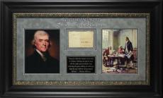 Thomas Jefferson Signed & Framed Free Frank From Presidency BAS #A04953