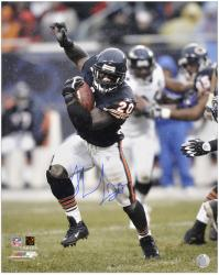Thomas Jones Chicago Bears Autographed 16'' x 20'' Arm In Air Photograph