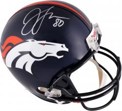 Julius Thomas Denver Broncos Autographed Riddell Replica Helmet - Mounted Memories