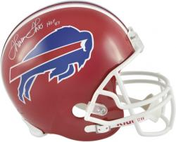 Thurman Thomas Buffalo Bills Autographed Riddell Replica Helmet with HOF 07 Inscription - Mounted Memories