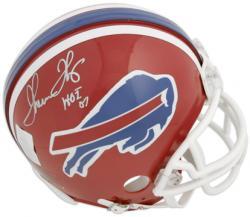 Thurman Thomas Buffalo Bills Autographed Riddell Mini Helmet with HOF 07 Inscription