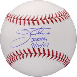 Jim Thome Signed Official MLB Baseball w/'500 HR 9-16-07'