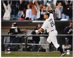 Jim Thome Chicago White Sox 500th HR Career Autographed 16'' x 20'' Horizontal Photograph - Mounted Memories