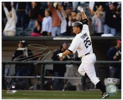 Jim Thome Chicago White Sox 500th HR Autographed 8'' x 10'' Horizontal Photograph - Mounted Memories