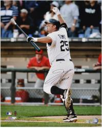 Jim Thome Chicago White Sox 500th HR Autographed 16'' x 20'' Vertical Photograph - Mounted Memories