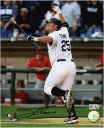 Jim Thome Chicago White Sox 500th HR Autographed 8'' x 10'' Vertical Photograph - Mounted Memories