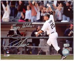 """Jim Thome Chicago White Sox Autographed 8"""" x 10"""" Photograph with Happy Holidays Inscription"""