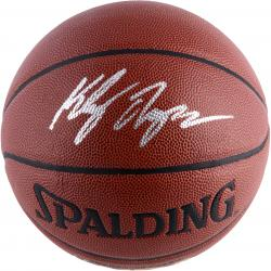 Klay Thompson Golden State Warriors Autographed Spalding Grip Control Basketball - Mounted Memories