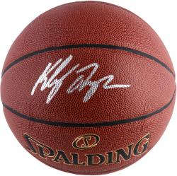 Klay Thompson Golden State Warriors Autographed Spalding Premier Excel Basketball - Mounted Memories