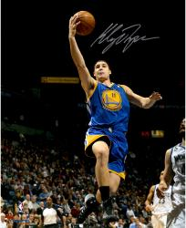 "Klay Thompson Golden State Warriors Autographed 16"" x 20"" Blue Uniform Layup Photograph"