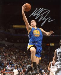 "Klay Thompson Golden State Warriors Autographed 8"" x 10"" Blue Uniform Layup Photograph"
