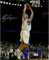 """Klay Thompson Golden State Warriors Autographed 16"""" x 20"""" Dunk Photograph"""