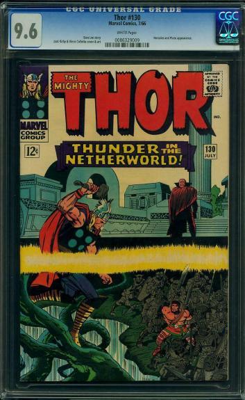 Thor #130 Cgc 9.6 White Origin 2nd Highest Graded  Cgc #0086329009