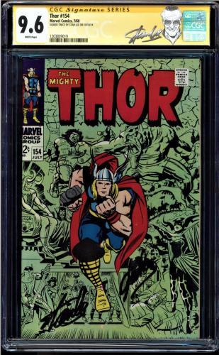 Thor #154 Cgc 9.6 White Ss Stan Lee Highest Graded 1st Mangog App #1203809019