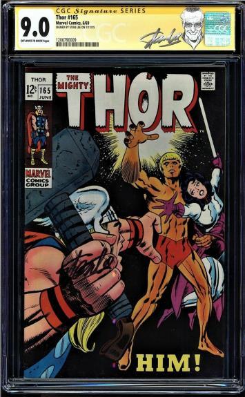 Thor #165 Cgc 9.0 Oww Ss Stan Lee 1st Full App Him (warlock) Cgc #1206790009