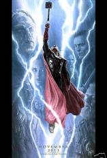 Thor 2 Dark World 2013 Comic-Con SDCC exclusive promo Marvel 13x20 movie poster