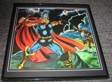 Thor & Ben Franklin Original Framed 1976 Marvel Bicentennial Poster 12x12