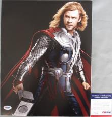 THOR!!! Chris Hemsworth Signed THE AVENGERS Cool 11x14 Photo #2 PSA/DNA
