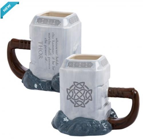 Thor Mjolnir 20oz. Sculpted Mug