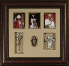 Pope John Paul II, Benedict XVI, Francis Framed Display