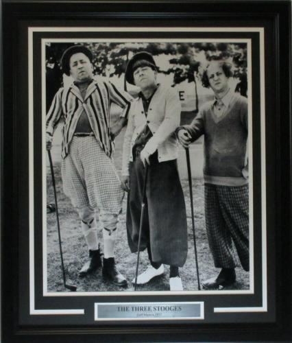 Three Stooges 16x20 Golf Photo Framed