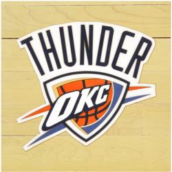 "NBA Oklahoma City Thunder Collectible 12"" x 12"" Logo Floor Piece"