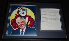 Thurl Ravenscroft Signed Framed Handwritten Letter & Photo Display Tony Tiger