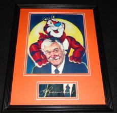 Thurl Ravenscroft Signed Framed Photo Display Tony the Tiger Frosted Flakes