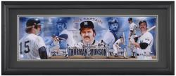 Thurman Munson New York Yankees Framed Panoramic Photograph with Suede Matte - Mounted Memories