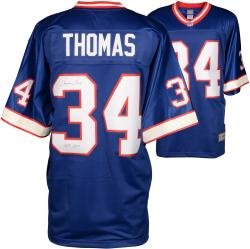 Thurman Thomas Buffalo Bills Autographed Pro Line Blue Jersey with HOF 2007 Inscription - Mounted Memories