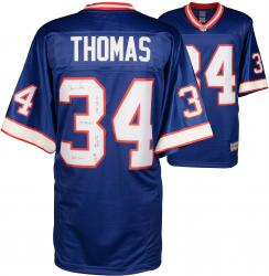 Thurman Thomas Buffalo Bills Autographed Pro Line Blue Jersey with Multiple Inscriptions-#1 of a Limited Edition of 34 - Mounted Memories
