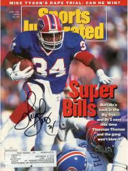 Thurman Thomas Buffalo Bills Autographed Super Bills Sports Illustrated Magazine