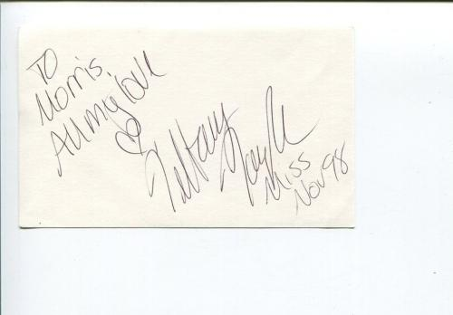 Tiffany Taylor Playboy Playmate November 1998 Signed Autograph