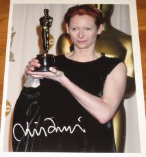 Tilda Swinton Signed 11x14 Photo Autograph Oscar Award Coa