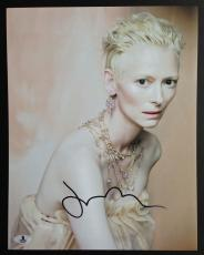 Tilda Swinton Signed 11x14 Photo Beckett Coa Autograph Bas B10143