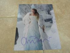 Tilda Swinton White Witch Sexy Signed Autographed 8x10 Photo Beckett Certified