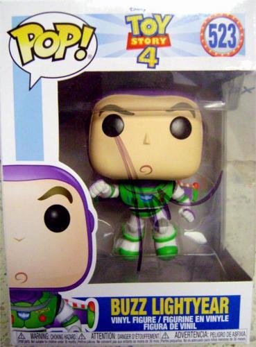 Tim Allen autographed Buzz Lightyear Toy Story 4 Funko Pop Figure on Box Disney 523